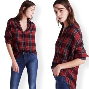 Madewell Plaid Flannel Wool Button Down